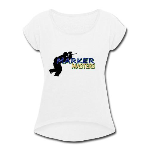 Marker Masters Logo - Women's Roll Cuff T-Shirt