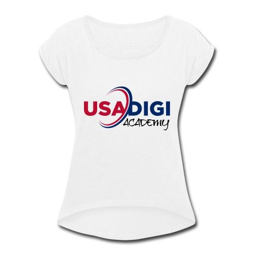 USA DIGI ACADEMY - Women's Roll Cuff T-Shirt