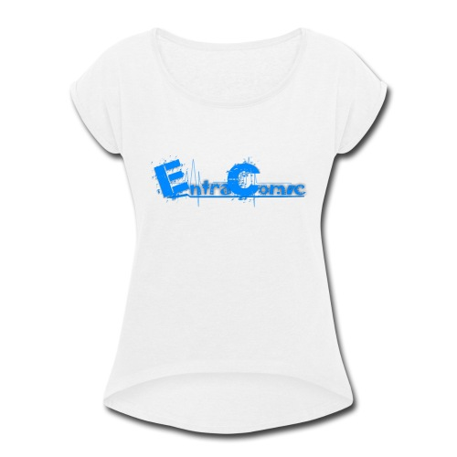 Entracomic Logo For Fans - Women's Roll Cuff T-Shirt