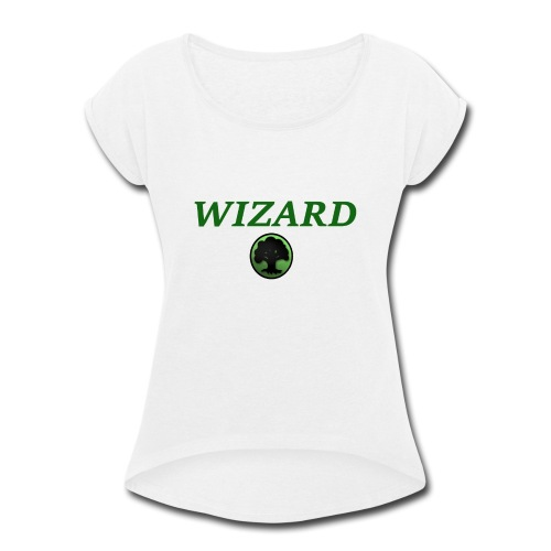 Forest Wizard - Women's Roll Cuff T-Shirt