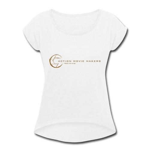 AMMT Logo Modern Look - Women's Roll Cuff T-Shirt