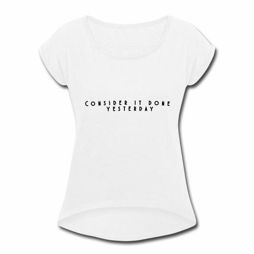 Rebound Offical Montra Text Tee/Sweatshirt/Hoodie - Women's Roll Cuff T-Shirt