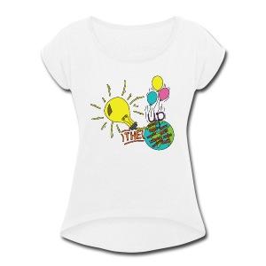 Light Up The World - Women's Roll Cuff T-Shirt