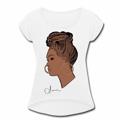 Poly Queen - Women's Roll Cuff T-Shirt