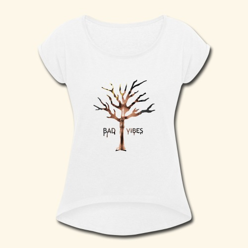 xxxtentacion tree - Women's Roll Cuff T-Shirt