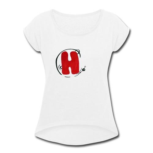 H - Women's Roll Cuff T-Shirt