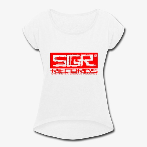 SGR LOGO RED - Women's Roll Cuff T-Shirt