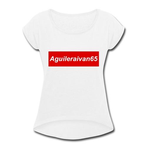 supreme shirt type of merch - Women's Roll Cuff T-Shirt