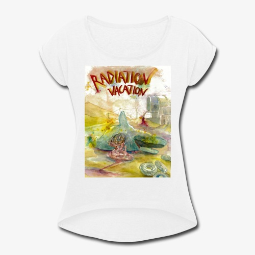 Beached Whale - Women's Roll Cuff T-Shirt