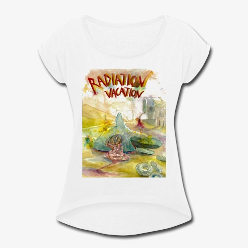 Beached Whale - Women's Roll Cuff T-Shirt