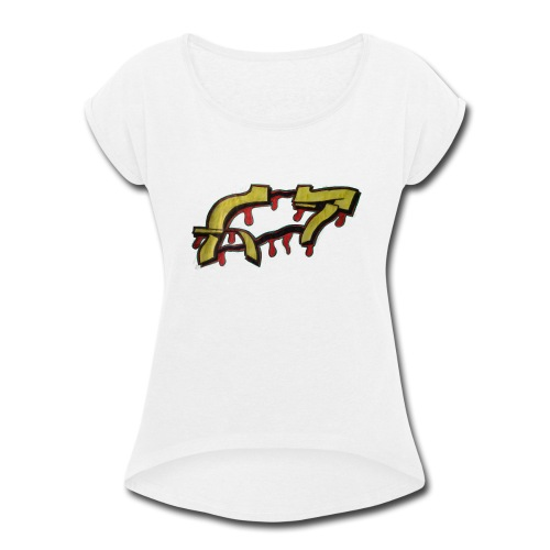 ST graffiti - Women's Roll Cuff T-Shirt