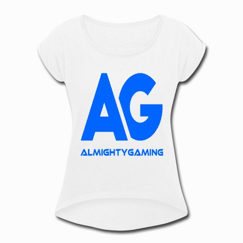 AlmightyGaming (Blue Edition!) - Women's Roll Cuff T-Shirt