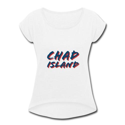 76A77158 84F0 46B5 9B58 B2C8256B981D - Women's Roll Cuff T-Shirt