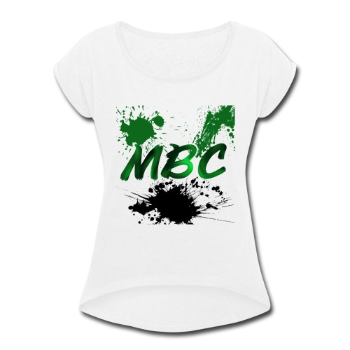 MinerBroConnor With Splatter - Women's Roll Cuff T-Shirt