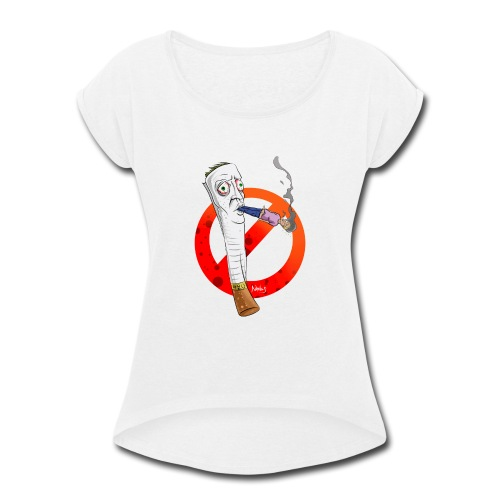 blaze it 420 - Women's Roll Cuff T-Shirt