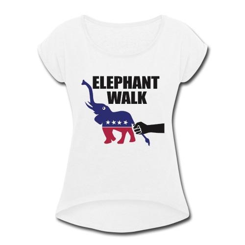 Elephant Walk - Women's Roll Cuff T-Shirt