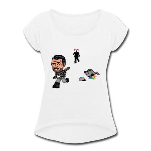 Negan Spreading Rainbow - Women's Roll Cuff T-Shirt