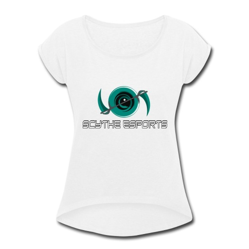 HighResScytheLogoWithType - Women's Roll Cuff T-Shirt