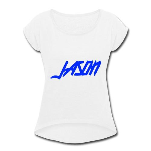 Jason New Logo - Women's Roll Cuff T-Shirt