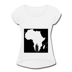 Tswa_Daar_Logo_Design - Women's Roll Cuff T-Shirt