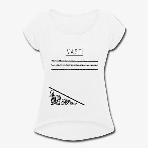 Vintage   Vast Clothing - Multi Designed Shirts+ - Women's Roll Cuff T-Shirt