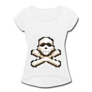 Wildy Shirt - T-shirt Femme à manches retournées