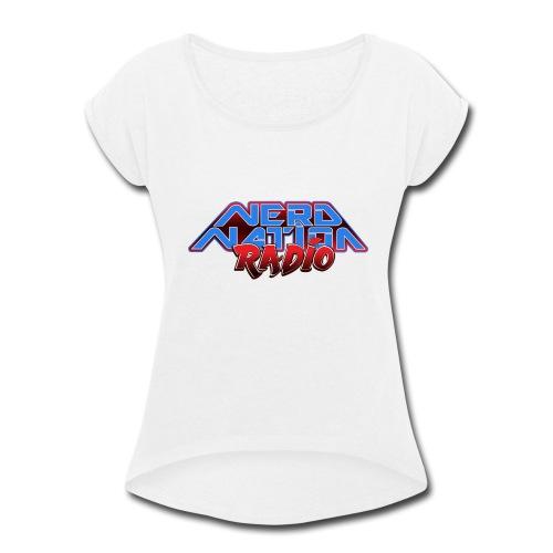 Nerd Nation Logo - Women's Roll Cuff T-Shirt