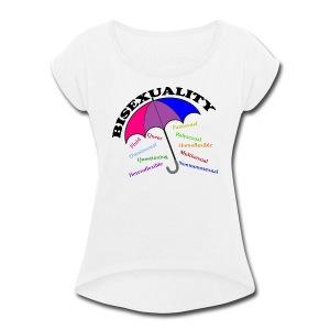 Bi+ Umbrella - Women's Roll Cuff T-Shirt