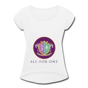 All For One Logo - Women's Roll Cuff T-Shirt
