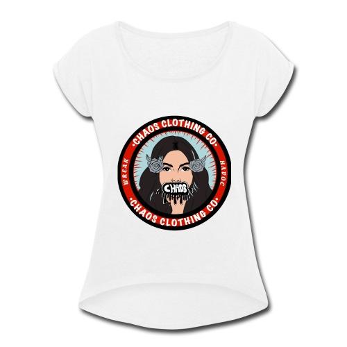 Classic Chaos Logo - Women's Roll Cuff T-Shirt