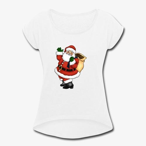 santa - Women's Roll Cuff T-Shirt