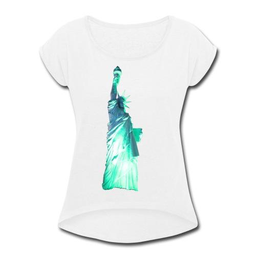Statue of Liberty - Women's Roll Cuff T-Shirt