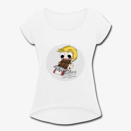 chocolate - Women's Roll Cuff T-Shirt