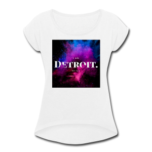I. AM. DETROIT. ASTRO - Women's Roll Cuff T-Shirt