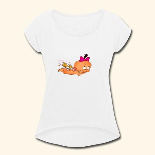 Babby Ka Boom - Women's Roll Cuff T-Shirt