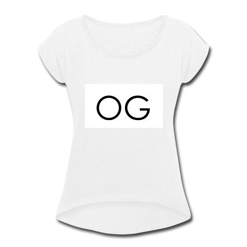 OG design white - Women's Roll Cuff T-Shirt