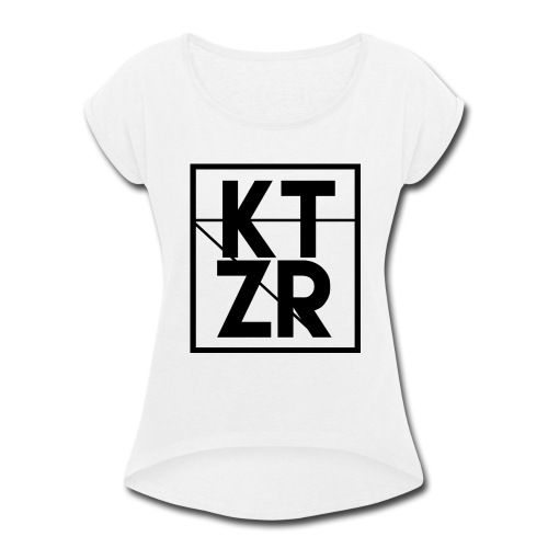 KTZR Logo - Women's Roll Cuff T-Shirt