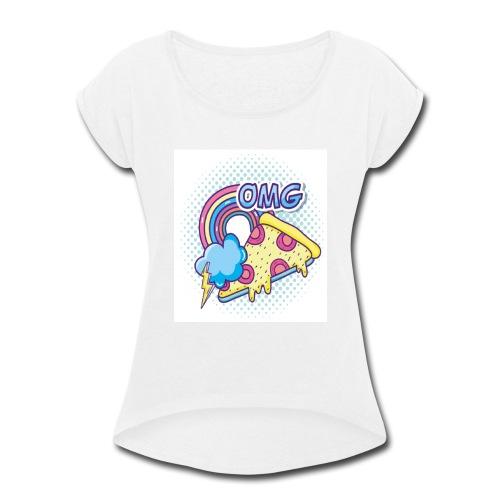 PIZAA - Women's Roll Cuff T-Shirt
