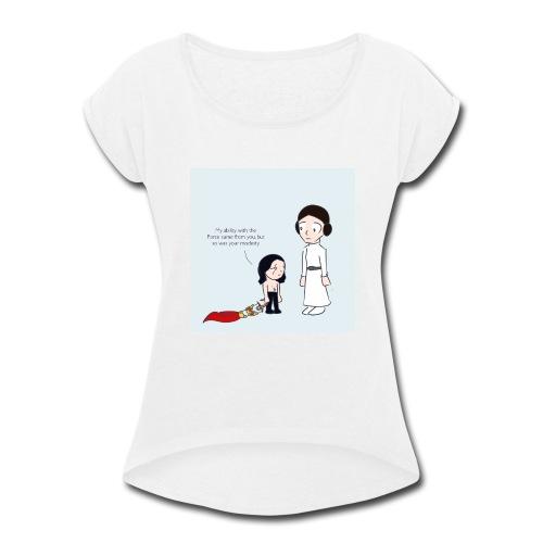 Modesty - Women's Roll Cuff T-Shirt