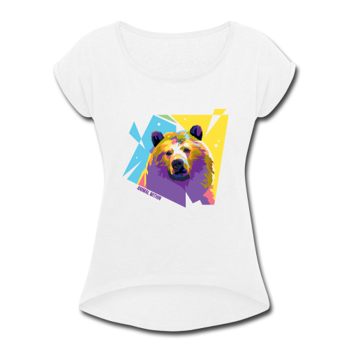 Bear Within - Women's Roll Cuff T-Shirt