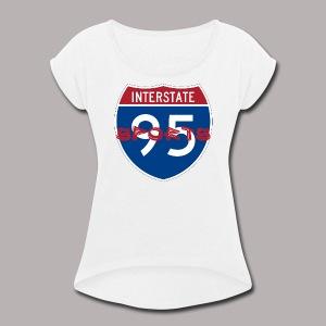 I-95 Sports Podcast Logo - Women's Roll Cuff T-Shirt