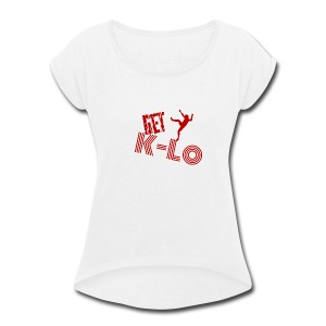 Red k lo - Women's Roll Cuff T-Shirt