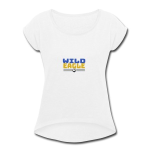 Wild Eagle - Women's Roll Cuff T-Shirt
