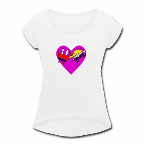 Krario - Women's Roll Cuff T-Shirt
