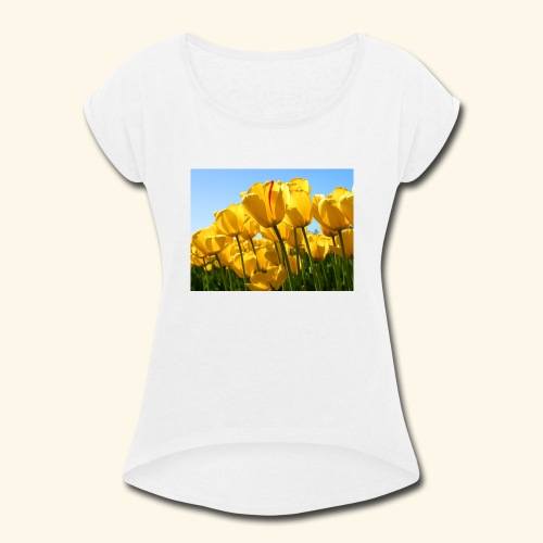 Tulips - Women's Roll Cuff T-Shirt