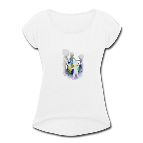 Save The Earth Presnt for all - Women's Roll Cuff T-Shirt
