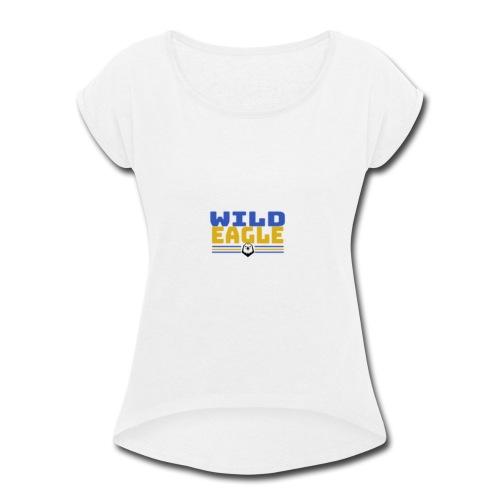 Wild Eagle - Women's Roll Cuff T-Shirt