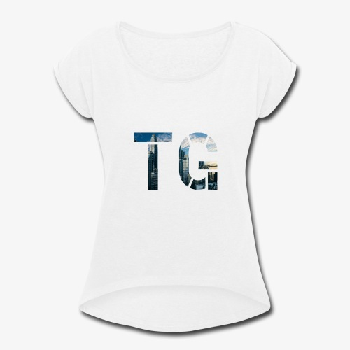Initials 2 - Women's Roll Cuff T-Shirt