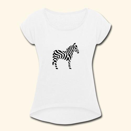 Zebra T - Women's Roll Cuff T-Shirt