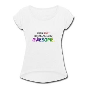 condensed - Women's Roll Cuff T-Shirt